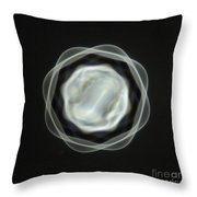 1 Mm Vibrating Bubble Throw Pillow