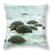 Moeraki Boulder East Coast Of South New Zealand Throw Pillow