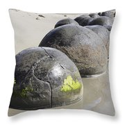 Moeraki Boulders, Koekohe Beach, New Throw Pillow
