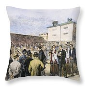 Molly Maguires Executions Throw Pillow