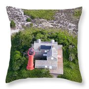 Monomoy Light At Monomoy Wildlife Refuge In Chatham On Cape Cod Throw Pillow
