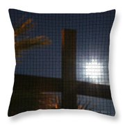Moon Rising One Throw Pillow