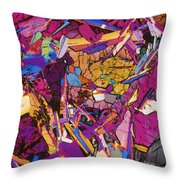 Moon Rock, Transmitted Light Micrograph Throw Pillow by Michael W. Davidson - FSU