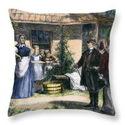 Mormon Wives, 1875 Throw Pillow