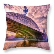 Moscow's Bridges Throw Pillow