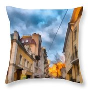 Moscow's Streets Throw Pillow