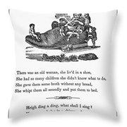 Mother Goose, 1833 Throw Pillow