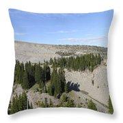 Mount Hood Pano Throw Pillow