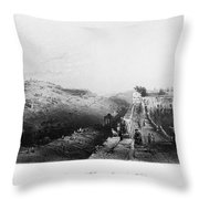 Mount Of Olives Throw Pillow