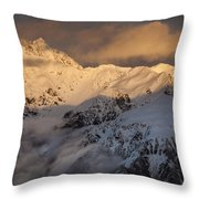Mount Rolleston At Dawn Arthurs Pass Np Throw Pillow