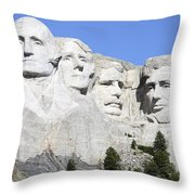 Mount Rushmore National Memorial, South Throw Pillow
