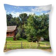 Mountain Cabin - Rural Idaho Throw Pillow