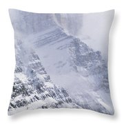 Mt. Chephren, Banff National Park Throw Pillow