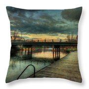 Napanee Harbour  Throw Pillow