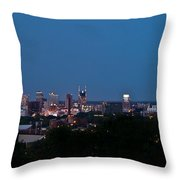 Nashville By Night 1 Throw Pillow