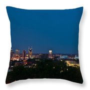 Nashville By Night 3 Throw Pillow
