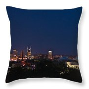 Nashville By Night Throw Pillow
