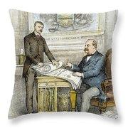 Nast: Civil Service Reform Throw Pillow