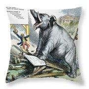 Nast: Tweed Cartoon, 1875 Throw Pillow by Granger