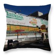 Nathan's Famous Throw Pillow
