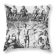Native Amercian Medicine Throw Pillow by Science Source