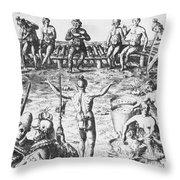 Native Amercian Medicine Throw Pillow