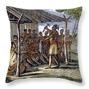Native American Council, C1835 Throw Pillow