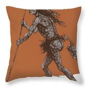 Native American Shaman Throw Pillow