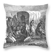 Native Americans: Gambling, 1870 Throw Pillow by Granger