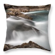 Natural Bridge Yoho National Park Throw Pillow