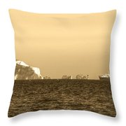 Needles On The Isle Of Wight As Viewed From Mudeford Throw Pillow