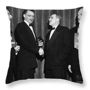 Nelson Algren (1909-1981) Throw Pillow by Granger