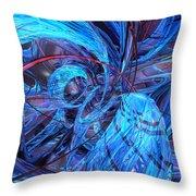 Neon Abstract Fx  Throw Pillow