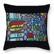 network II Throw Pillow