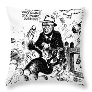 New Deal: Supreme Court Throw Pillow