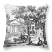 New Hampshire: Portsmouth Throw Pillow