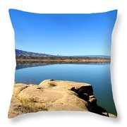 New Mexico Series - Abiquiu Lake Throw Pillow