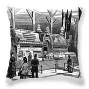 New Orleans Fair, 1884 Throw Pillow