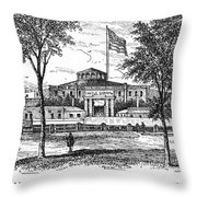 New York: Castle Garden Throw Pillow