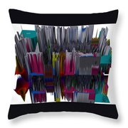 New York City In Space Throw Pillow