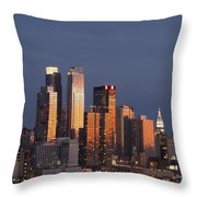 New York City, New York, United States Throw Pillow