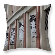 New York Mets Of Old Throw Pillow by Rob Hans