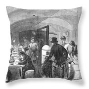 New York: Poverty, 1868 Throw Pillow