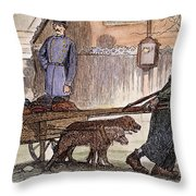 New York: Rag-picker, 1870 Throw Pillow