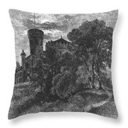 New York State: Castle Throw Pillow