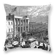 New York: The Bowery, 1871 Throw Pillow
