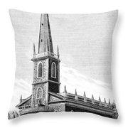 New York: Trinity Church Throw Pillow