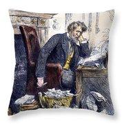 Newspaper Editor, 1880 Throw Pillow