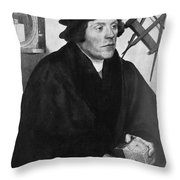 Nicholas Kratzer, German Astronomer Throw Pillow