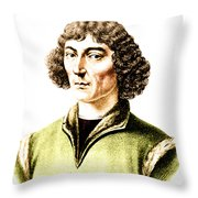 Nicolaus Copernicus, Polish Astronomer Throw Pillow